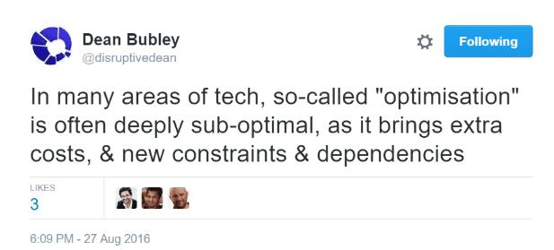 Dean Bubley Optimisation